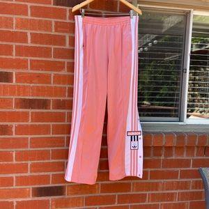 Adidas XL pink tearaway pants UK 14